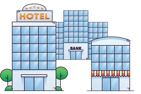 bank, storefront, and hotel bed bug extermination